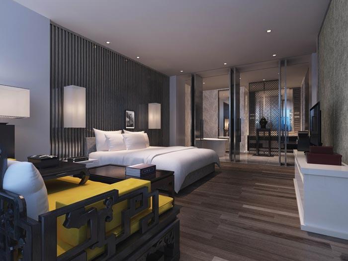 文化传播精品酒店客房装修设计案例效果图