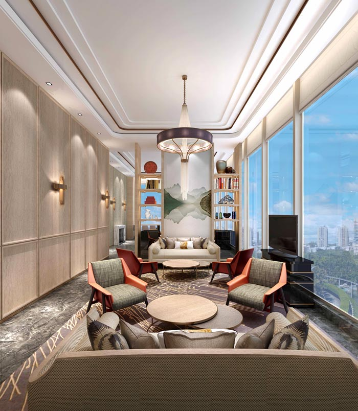 商务精品酒店洽谈区域装修设计案例效果图