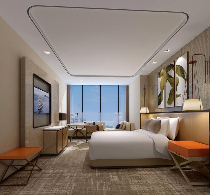 商务精品酒店客房装修设计案例效果图