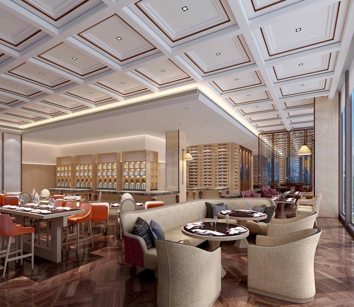 商务精品酒店餐厅装修设计案例效果图