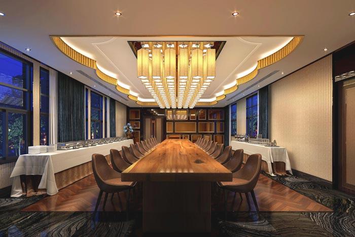 度假精品酒店餐厅装修设计案例效果图