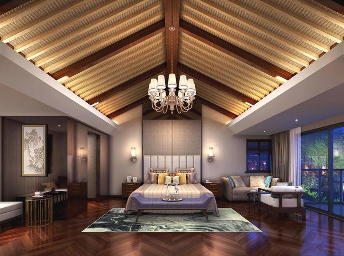 度假精品酒店豪华单人间装修设计案例效果图