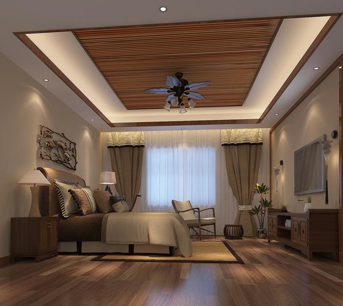 新中式精品酒店单人客房装修设计案例效果图