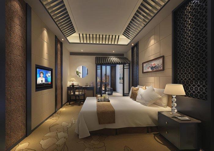 特色商务酒店客房主题1装修设计案例效果图
