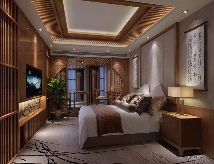 特色商务酒店客房主题2装修设计案例效果图