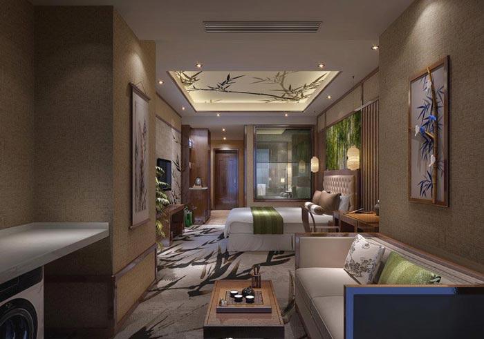 特色商务酒店客房主题6装修设计案例效果图