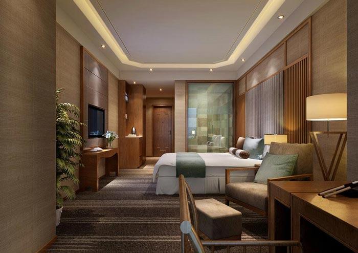 特色商务酒店客房主题5装修设计案例效果图