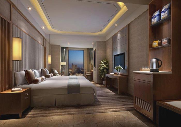 特色商务酒店客房主题4装修设计案例效果图