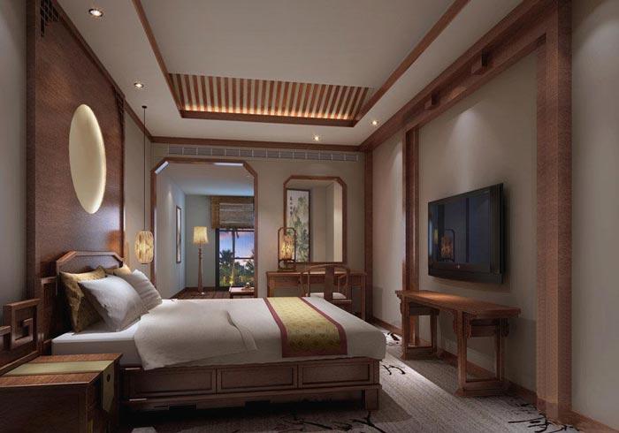 特色商务酒店客房主题3装修设计案例效果图