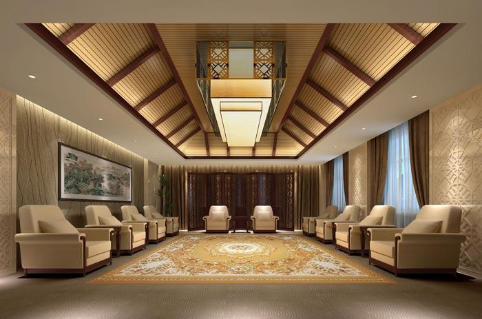 四星级商务酒店接待区域装修设计案例效果图