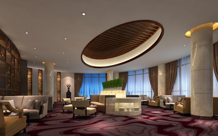 四星级商务酒店洽谈区装修设计案例效果图
