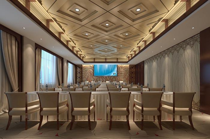四星级商务酒店会议室装修设计案例效果图