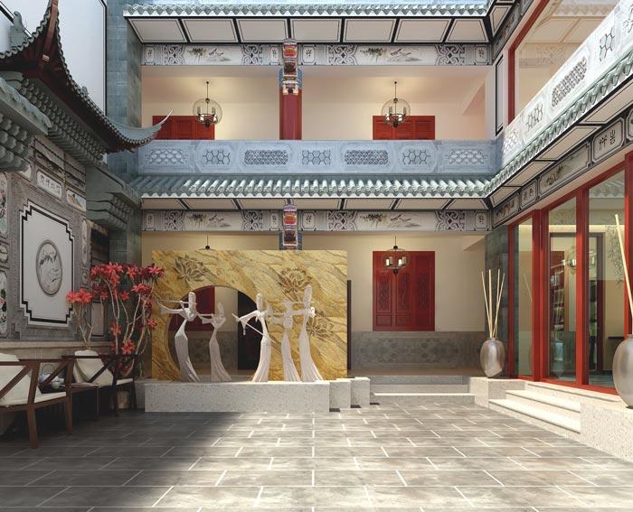 风情主题酒店大厅装修设计案例效果图