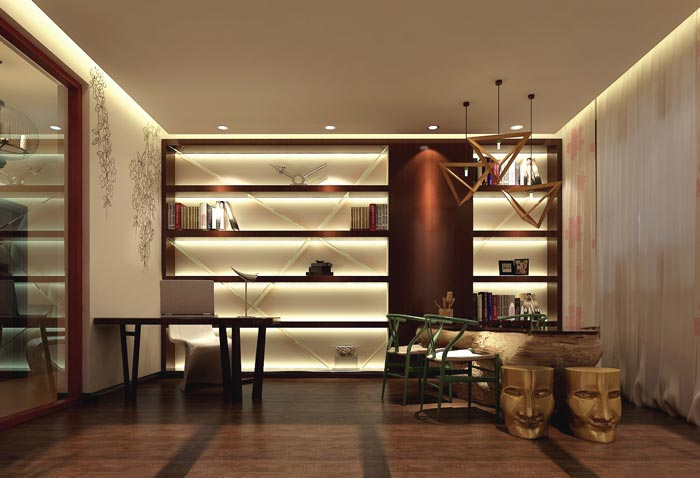 风情主题酒店办公区域装修设计案例效果图