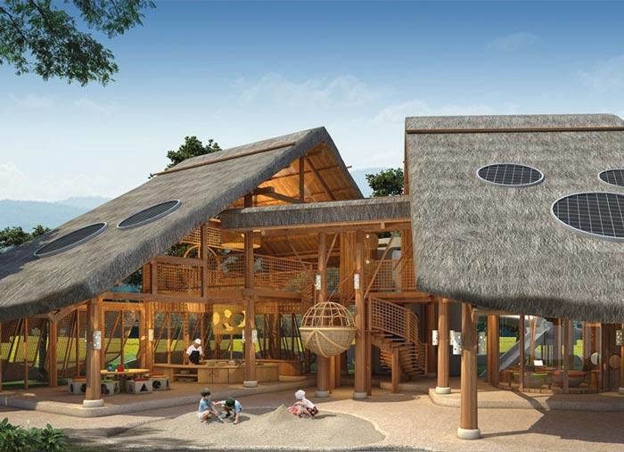私人度假酒店后院装修设计案例效果图