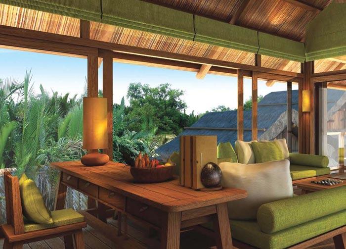 私人度假酒店休息区域装修设计案例效果图