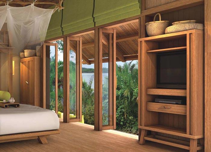 私人度假酒店客房窗户装修设计案例效果图