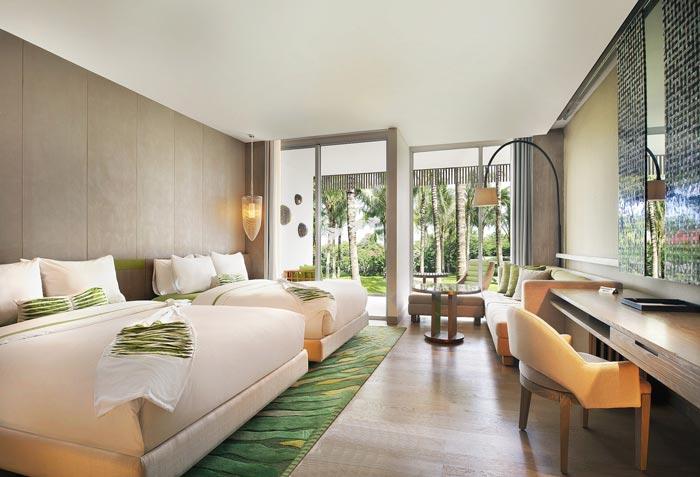 度假村酒店户外客房装修设计案例效果图