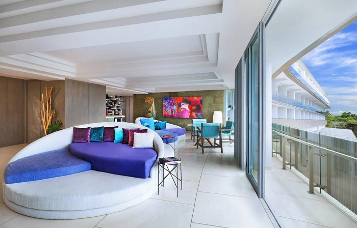 度假村酒店艺术观赏区域装修设计案例效果图