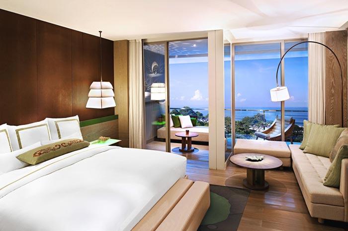 度假村酒店套间客房装修设计案例效果图