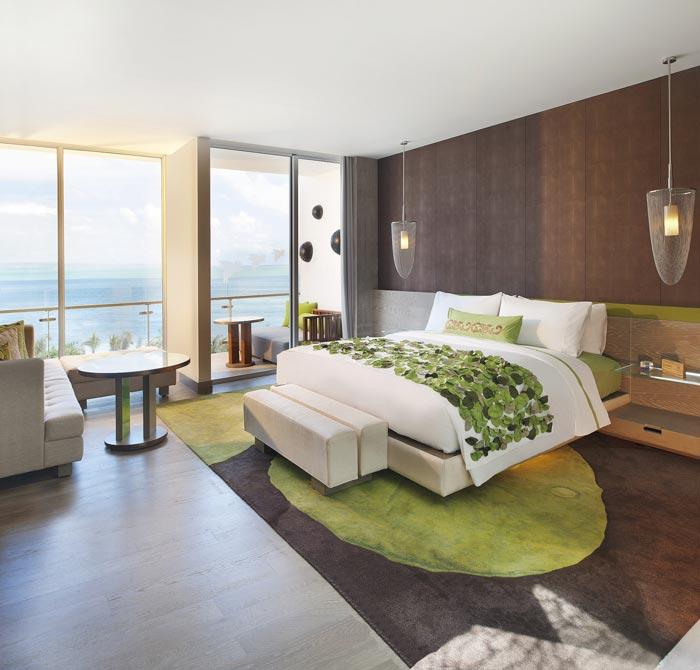 度假村酒店海景客房装修设计案例效果图