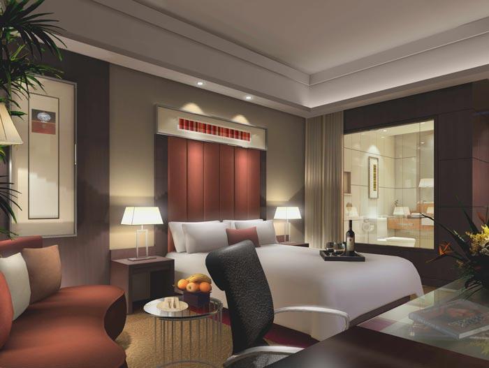 精品商务酒店桑拿客房装修设计案例效果图