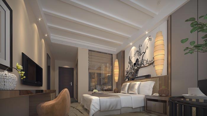 商务型酒店标准客房装修设计案例效果图