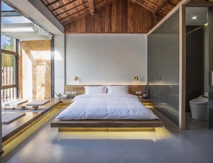 乡村精品民宿大床房装修设计效果图