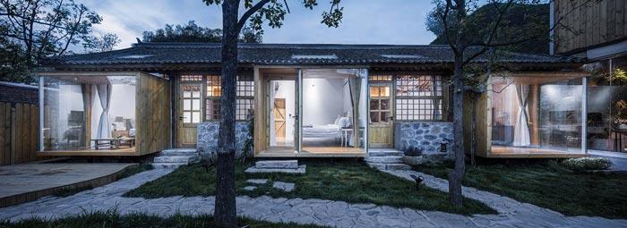 乡村景区民宿庭院装修设计效果图
