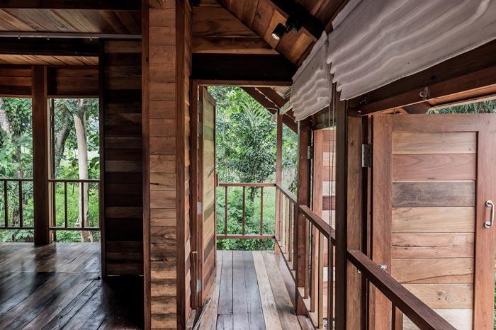 乡村文化民宿走廊设计效果图