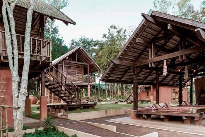 乡村文化民宿结构设计效果图