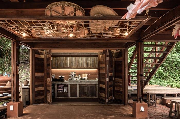 乡村文化民宿厨房设计效果图